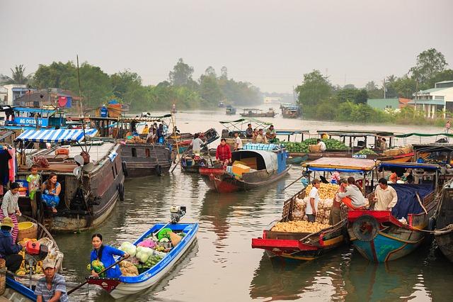 Circuit Vietnam Mekong Marché flottant
