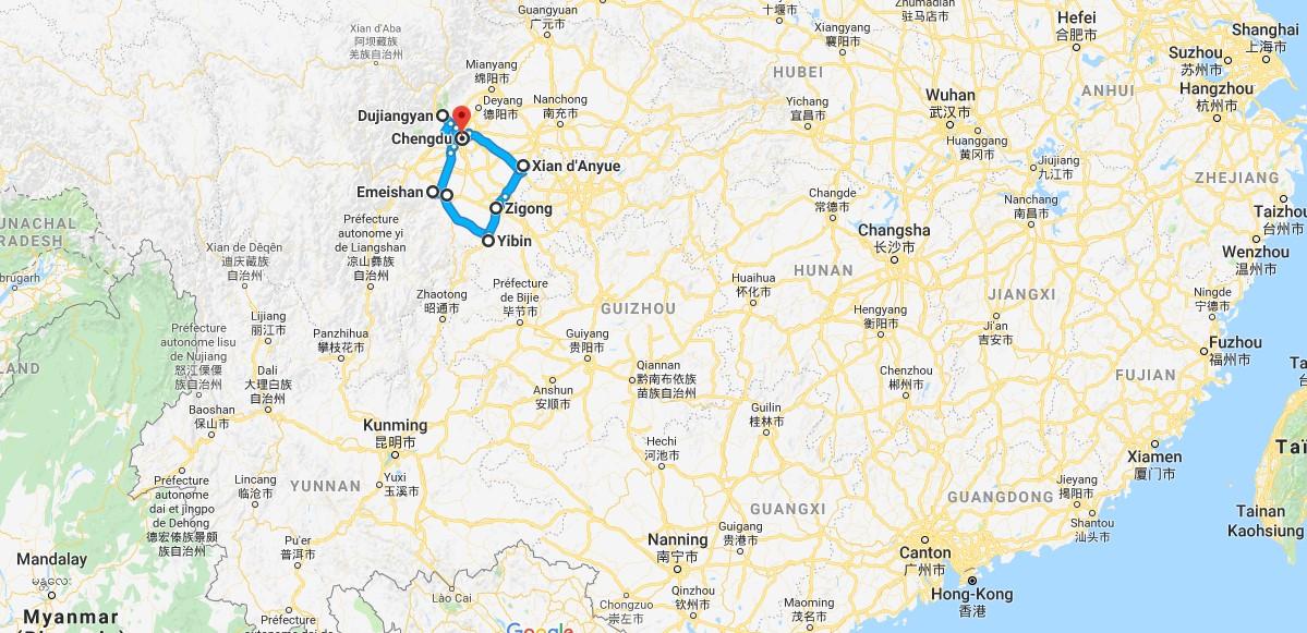 Circuit Chine Sichuan