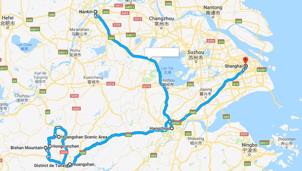 Circuit privé Chine Est