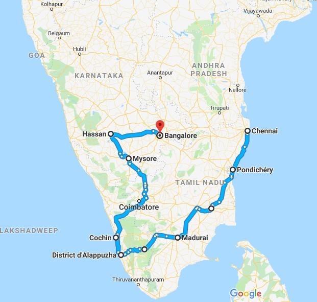 Circuit Inde du Sud