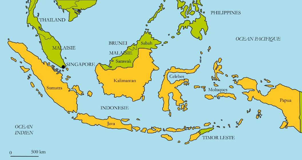 Carte voyage Indonésie