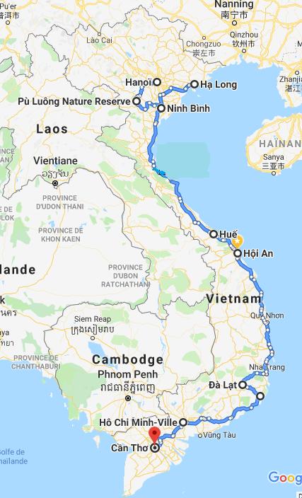 Carte circuit Vietnam